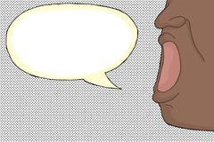 person yelling - stock illustration
