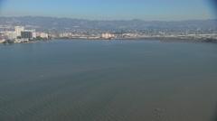 Aerial Coastline San Francisco Bay residential USA Stock Footage
