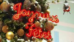 Happy Holidays Sign At Paris Stock Footage
