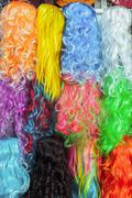 hairpiece colorful - stock photo