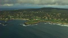 Aerial Pebble Beach coastline Monterey California USA - stock footage