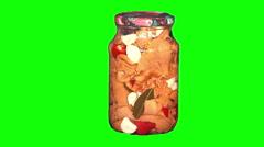 Jar of mushrooms - stock footage