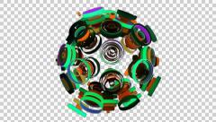Neon Pattern 003 C Alternate Random GTC 4K with alpha Stock Footage