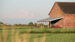 Mount Baker, Red Barn Stock Footage