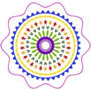 Stock Illustration of mandala ornament generated texture