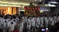 Crowd Of Men Circle Float In Japanese Parade Kyoto Gion Festival With Audio 4 Footage