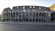Stock Video Footage of Italy Rome colosseum sunset time lapse 4k