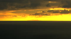 Aerial sunset Seascape Island Global warming USA Stock Footage