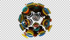 Neon Pattern 003 C Alternate Strength GTC 4K with alpha Stock Footage