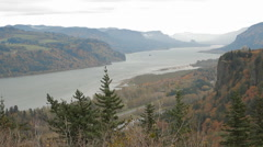 Columbia River Gorge-03 - stock footage