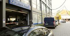 Deutsche Bank branch Stock Footage
