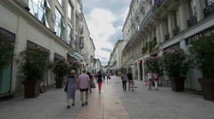 Pedestrian shopping street - Angers France - HD 4K+ Stock Footage
