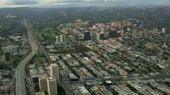 Aerial California Freeway Intersection San Francisco USA Stock Footage