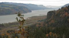 Columbia River Gorge-08 - stock footage