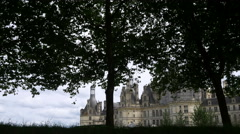 People in front of Chateau de Chambord - France - HD 4K+ Stock Footage