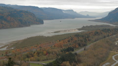 Columbia River Gorge-10 - stock footage