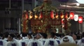 Japanese Lantern Float Carried By Group Of Men Gion Festival Kyoto 4K Footage
