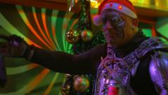 Robotic Santa Claus Dancing Stock Footage