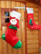 Stock Photo of socks hung to receive gifts from befana and santa claus