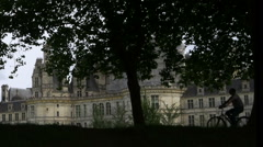 People in front of Chateau de Chambord - France Stock Footage