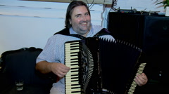 Concert of Serbian accordionist  Boyan Jovanovic Stock Footage