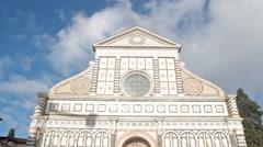 Santa Maria Novella church facade, Florence , Italy Stock Footage