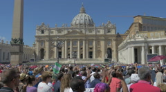 People listening Pope Francis in Vatican, Italy, 4k, UHD Stock Footage