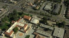 Aerial Urban district commuter Monterey California USA Stock Footage