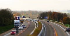 4k, traffic on german autobahn, cars and trucks Stock Footage