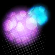 Stock Illustration of background with glitter circles