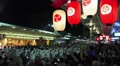 Japanese Lanterns Crowd Of Men Circle FloatParade Kyoto Gion Fest With Audio HD Footage