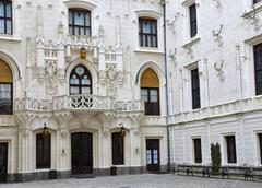 Court of castle Stock Photos