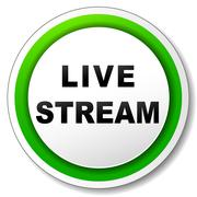 Live stream icon Stock Illustration