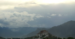 4k Potala Palace in the morning,Lhasa,Tibet.timelapse clouds flying over. Stock Footage