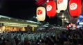 Japanese Lanterns Crowd Of Men Circle FloatParade Kyoto Gion Fest With Audio 4K Footage