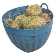 durian in basket - stock photo
