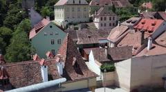 Splendid view, romantic, Sighisoara, Transylvania, medieval town, landmark Stock Footage