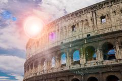 Ruins of the colosseum in rome, italy Stock Photos