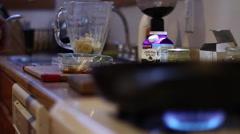 Kitchen Cooking Duties Stock Footage