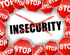 Stop insecurity Stock Illustration