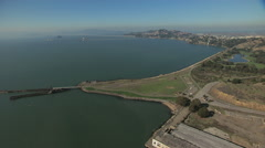 Aerial Brickyard Cove Richmond Bay San Francisco USA Stock Footage