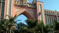 The United Arab Emirates city of Dubai 011 Atlantis The Palm luxury hotel Stock Footage