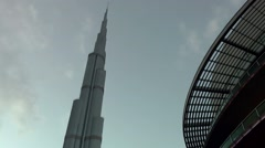 The United Arab Emirates city of Dubai 019 Burj Khalifa tower and sheikhs - stock footage