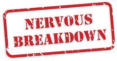 Nervous Breakdown Rubber Stamp - stock illustration