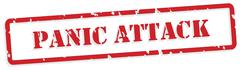 Panic Attack Rubber Stamp Stock Illustration