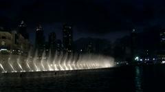 The United Arab Emirates city of Dubai 026 The Dubai Fountains Stock Footage