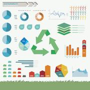 Sustainability Infographic Vector Stock Illustration