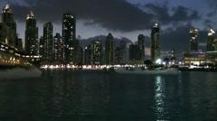 The United Arab Emirates city of Dubai 025 The Dubai Fountains Stock Footage
