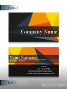 A company calling card - stock illustration