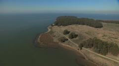 Aerial Pinole Point coastal wildlife California USA - stock footage